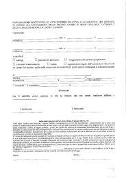 dichiarazione sostitutiva di atto notorio relativa alla volonta' del ...