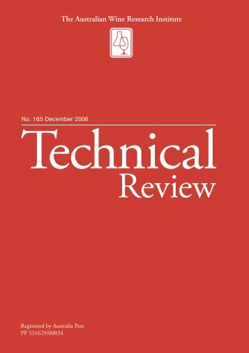 165 Technical Review December 2006 - The Australian Wine ...