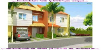 Casas na planta Freguesia Green Valley Real Nobile RJ