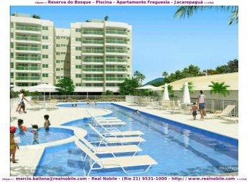 Apartamentos na planta Freguesia Reserva do Bosque Real Nobile RJ