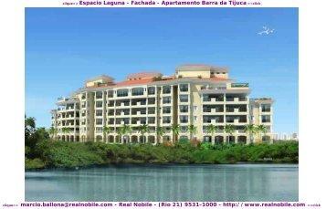 Apartamentos na planta Barra da Tijuca Espacio Laguna Real Nobile