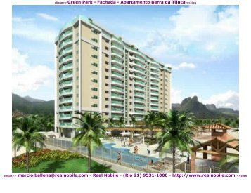 Apartamentos na planta Barra da Tijuca Green Park Real Nobile