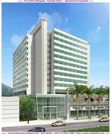Salas comerciais na planta Meier Torre Norte Shopping Real Nobile RJ