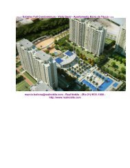 Apartamentos na planta Barra da Tijuca Estrelas Real Nobile RJ