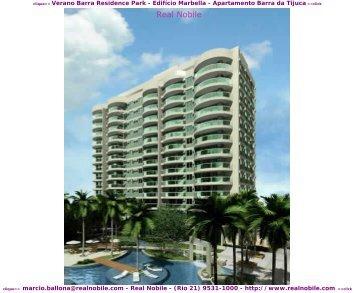 Apartamentos na planta Barra da Tijuca Verano Real Nobile RJ