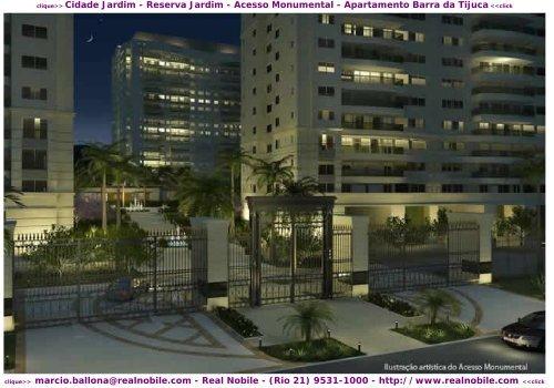 Apartamentos na planta Barra da Tijuca Cidade Jardim Real Nobile RJ