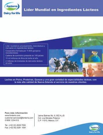 Para más información www.fonterra.com customer ... - CANILEC