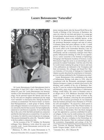 Lazare Botosaneanu 'Naturalist' - Imedea