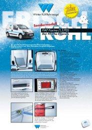 Fiat Fiorino - Winter Kühlfahrzeuge