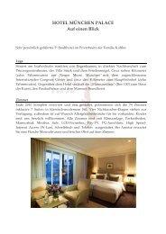 HOTEL MÜNCHEN PALACE Tagungspauschalen - Kuffler
