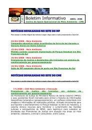 Boletim Informativo ABRIL -2008