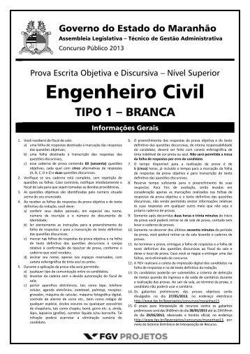 Técnico de Gestão Administrativa - Engenheiro Civil ... - FGV Projetos