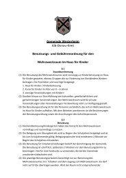 Benutzungs- u Gebührenordnung Mehrzweckraum ... - in Westerheim