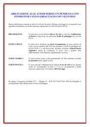 Requisiti Corsi - AIPM - Associazione Piloti di Montagna