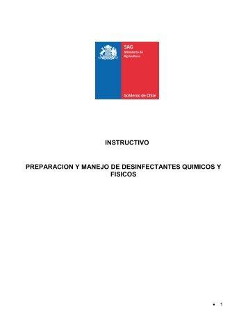 Preparación y manejo de desinfectantes químicos y físicos