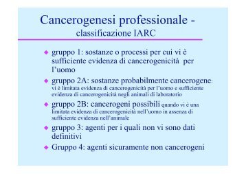 Cancerogenesi professionale - - Skuola.net