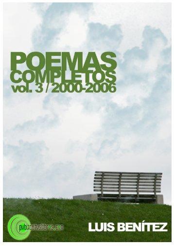 Poemas completos Vol. 3 - Publicar libros - Publicatuslibros.com