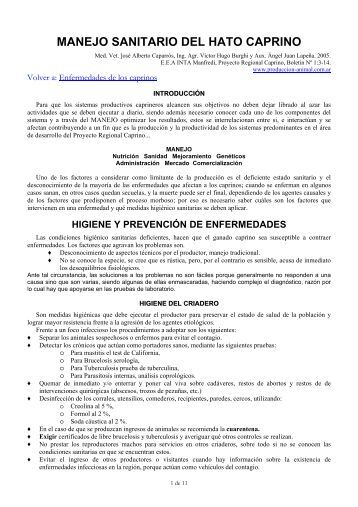 MANEJO SANITARIO DEL HATO CAPRINO - ovinos-caprinos