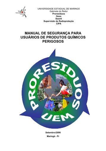 MANUAL DE SEGURAnçA curso de extensão - Pfi.uem.br - Uem
