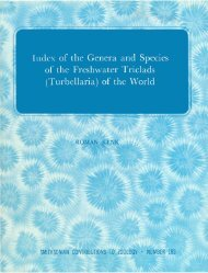 of the Genera and Species of the Freshwater Triclads - Smithsonian ...