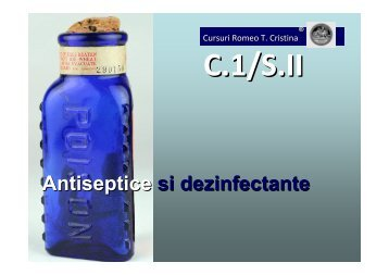 Antiseptice si dezinfectante - Veterinary Pharmacon