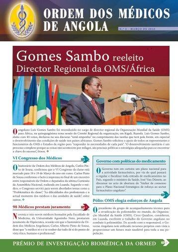 Gomes Sambo reeleito - Ordem dos Médicos de Angola