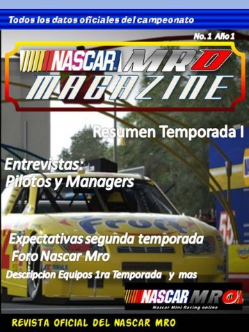 REVISTA NASCAR MRO MAGAZINE primera edicion.pdf - Webnode