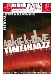 Il Tabloid del festival Time in Jazz 2008