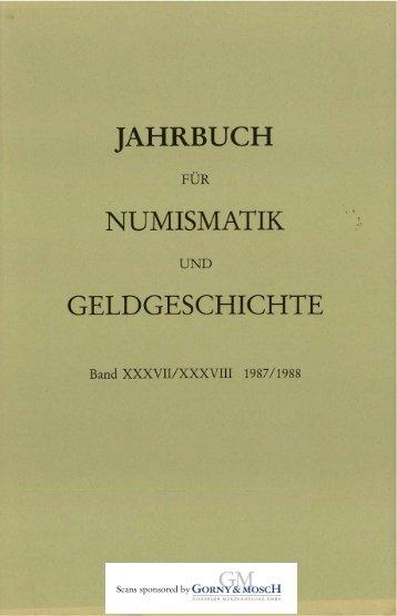jahrbuch numismatik geldgeschichte - Medievalcoinage.com