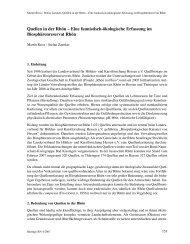Beiträge Region und Nachhaltigkeit 2007 - Wissenschaftliche ...