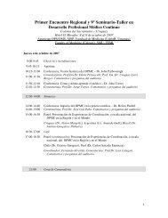 Primer Encuentro Regional y 9º Seminario-Taller en - Sindicato ...