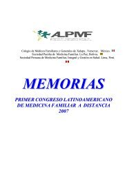 memorias del i congreso latinoamericano de medicina familiar a ...