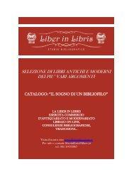 SELEZIONE DI LIBRI ANTICHI E MODERNI DEI ... - Libriantiquariato.it