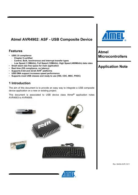 Atmel AVR4902: ASF - USB Compositive Device - Atmel Corporation