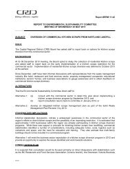 SUBJECT ISSUE The Capit diversion BACKGR At its 08 and aske ...