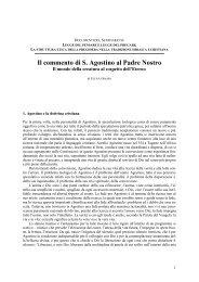 Il commento di S. Agostino al Padre Nostro - Giornale di filosofia ...