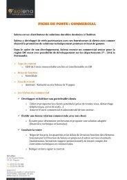 FICHE DE POSTE : COMMERCIAL - Quinquas Citoyens