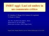 IMRT oggi: Luci ed ombre in un commento critico IMRT oggi: Luci ed ...