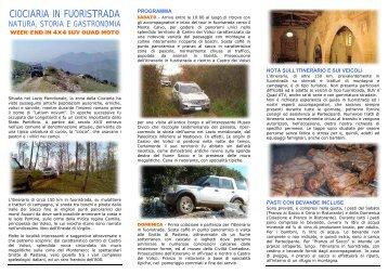 CIOCIARIA IN FUORISTRADA - Viaggi 4x4