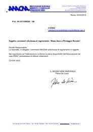 Commenti ANACNA alla bozza di regolamento ENAC su APR