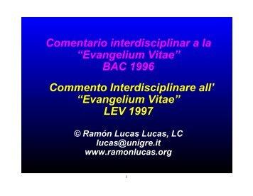 01-1 Evangelium-vitae Commento.pdf - Ramón Lucas Lucas, LC