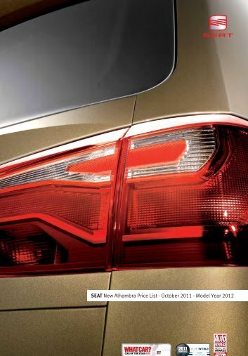 SEAT New Alhambra Price List - October 2011 - Model Year 2012