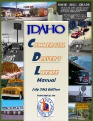 CDL Manual - Idaho Transportation Department - Idaho.gov