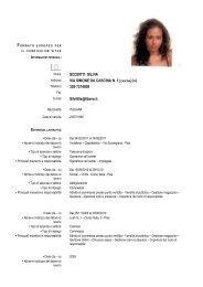 Curriculum Vitae Formato Europeo - Confartigianato