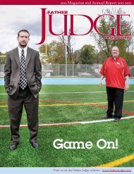 Game On! - Friends of Father Judge High School, Inc