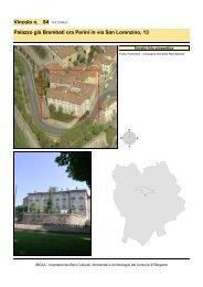 Vincolo n. 84 Palazzo già Brembati ora Perini in via San Lorenzino, 13