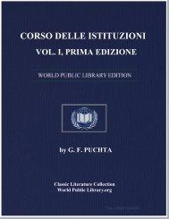 corso delle istituzioni, vol. i, prima edizione - World eBook Library