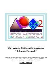 curricolo terzo biennio - Istituto Comprensivo Bolzano Europa 2