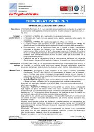 TECNOCLAY PANEL N. 1 - Tecnochem Italiana
