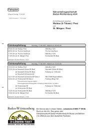 Fahrplan - Winzerverein Oberrotweil e.G.